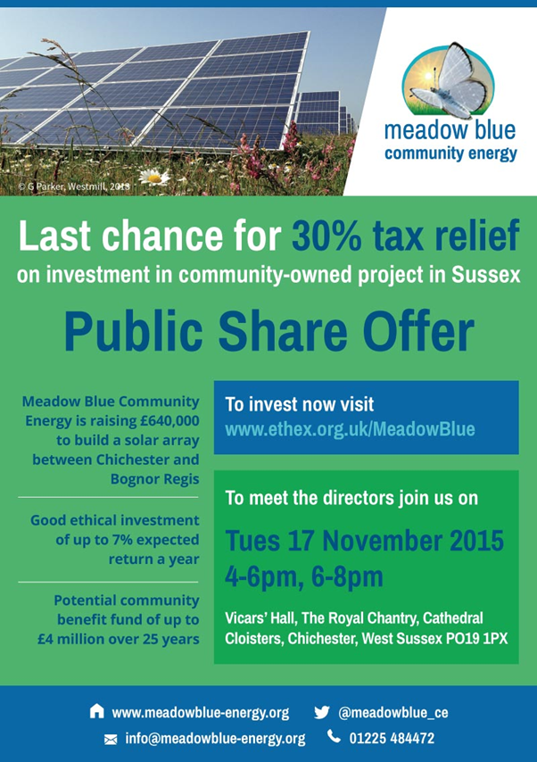 Meadow Blue Event flier- social media